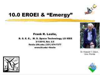 Frank R. Leslie,  B. S. E. E.,  M. S. Space Technology, LS IEEE 2