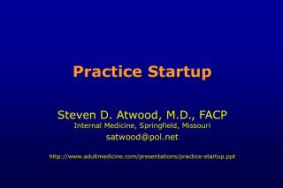 Practice Startup