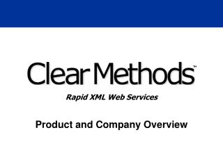 Slide 1 - Clear Methods