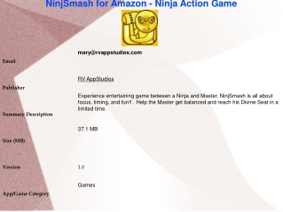 NinjSmash for Amazon - Ninja Action Game