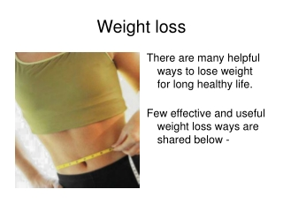 Few Simple and Effective Ideas on Weight Loss
