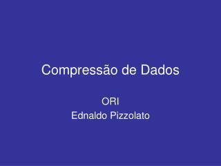 Compress o de Dados