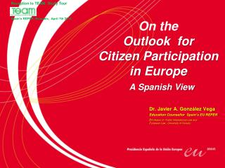 On the Outlook  for  Citizen Participation  in Europe
