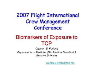2007 Flight International Crew Management Conference