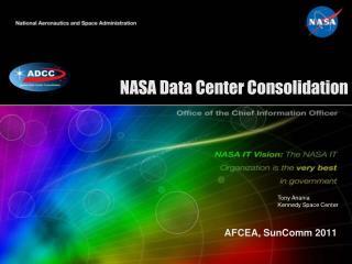 NASA Data Center Consolidation