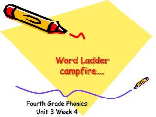 Word Ladder campfire….