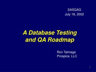 A Database Testing and QA Roadmap