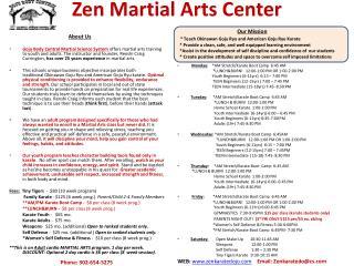 Zen Martial Arts Center