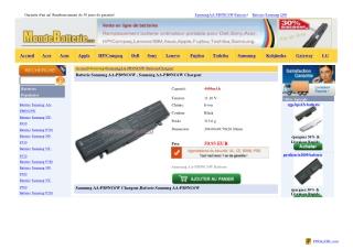 Samsung AA-PB9NC6W Chargeur,Batterie Samsung AA-PB9NC6W