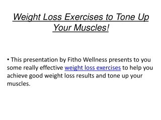 Weight Loss Exercises to Tone Up Your Muscles! | Fitho