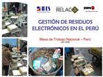 GESTI N DE RESIDUOS ELECTR NICOS EN EL PER