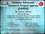 Defense Advanced Research Project Agency DARPA