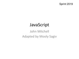 JavaScript: The Good Parts  Part Ten: ADsafe