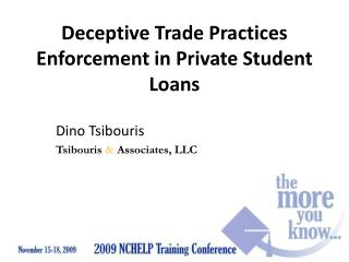 Deceptive Trade Practices Enforcement in Private Student Loans