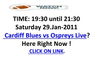 Cardiff Blues vs Ospreys Live Stream Link Rugby HD LV Cup