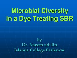 Microbial Diversity in a Dye Treating SBR