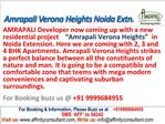 Amrapali Verona Heights @09999684955 Noida Extension
