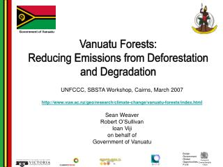 Vanuatu Forests: Reducing Emissions from Deforestation and Degradation