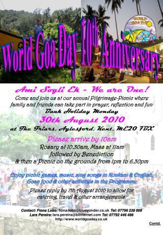 World Goa Day 10th Anniversary