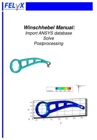 Winschhebel Manual:  Import ANSYS database Solve Postprocessing