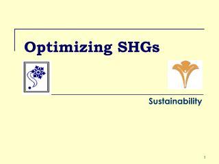 Optimizing SHGs