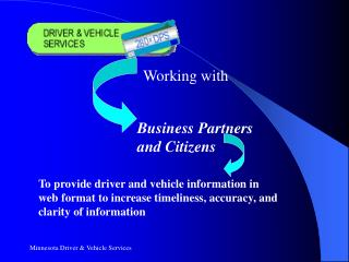 Minnesota Driver  Vehicle Services