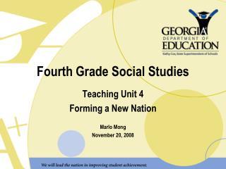 Fourth Grade Social Studies