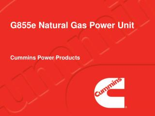 G855e Natural Gas Power Unit