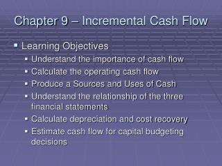 Chapter 9   Incremental Cash Flow
