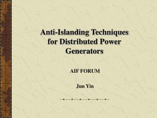 AIF FORUM  Jun Yin
