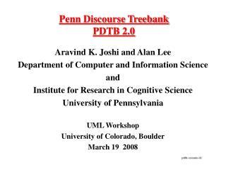 Penn Discourse Treebank  PDTB 2.0