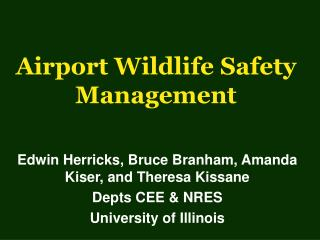 Airport Wildlife Safety Management