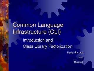 Common Language Infrastructure CLI