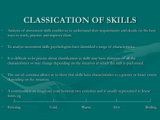 CLASSICATION OF SKILLS