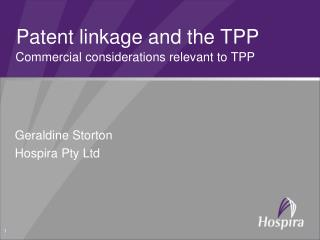 Patent linkage and the TPP