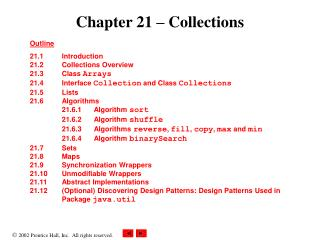 Chapter 21   Collections