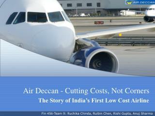 Air Deccan - Cutting Costs, Not Corners