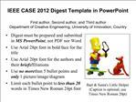 IEEE CASE 2012 Digest Template in PowerPoint