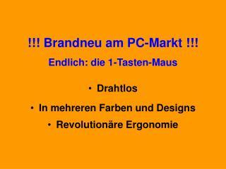 Brandneu am PC-Markt  Endlich: die 1-Tasten-Maus Drahtlos In mehreren Farben und Designs Revolution re Ergonomie