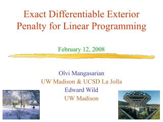 Exact Differentiable Exterior Penalty for Linear Programming