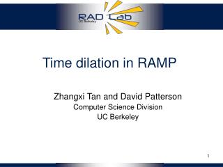 Time dilation in RAMP