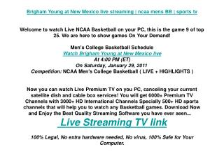 Brigham Young at New Mexico live streaming | ncaa mens BB |