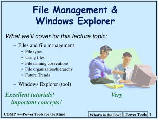 File Management   Windows Explorer