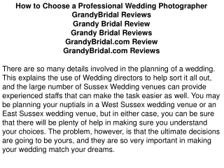 How to Choose a Professional Wedding Photographer GrandyBrid