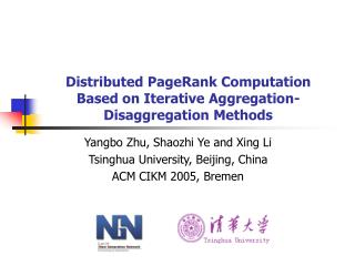 Distributed PageRank Computation Based on Iterative Aggregation-Disaggregation Methods
