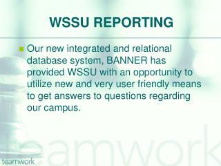 WSSU REPORTING