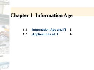 Chapter 1  Information Age