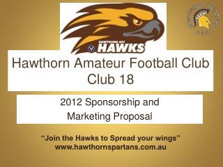 Hawthorn Amateur Football Club Club 18