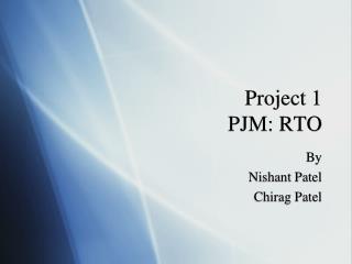 Project 1 PJM: RTO
