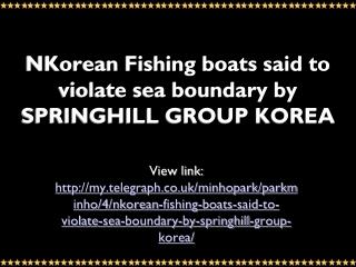 MyTelegraph: Bookrix: SPRINGHILL GROUP KOREA:   NKorean Fish